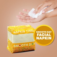 Smooth Day Facial Napkin, 100 pcs in Each packet
